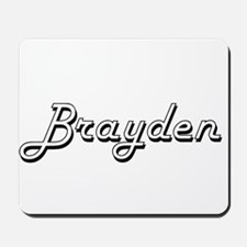 Brayden Classic Style Name Mousepad