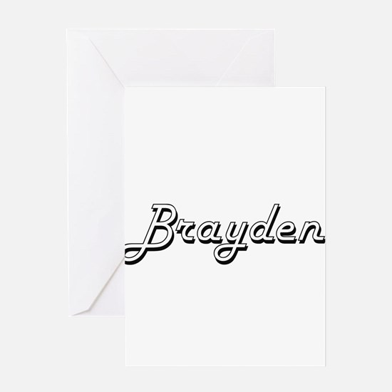 Brayden Classic Style Name Greeting Cards
