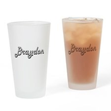 Braydon Classic Style Name Drinking Glass