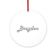 Braydon Classic Style Name Ornament (Round)