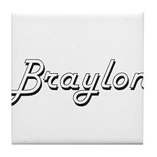 Braylon Classic Style Name Tile Coaster