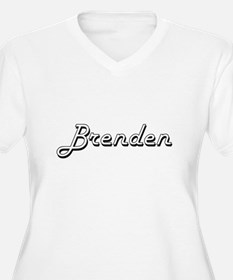 Brenden Classic Style Name Plus Size T-Shirt