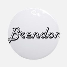 Brendon Classic Style Name Ornament (Round)