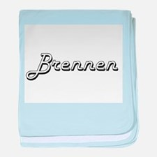 Brennen Classic Style Name baby blanket