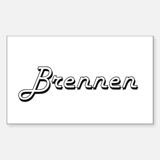 Brennen Classic Style Name Decal