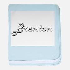 Brenton Classic Style Name baby blanket