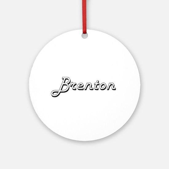 Brenton Classic Style Name Ornament (Round)