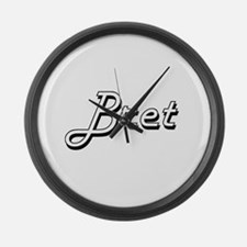 Bret Classic Style Name Large Wall Clock