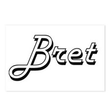 Bret Classic Style Name Postcards (Package of 8)
