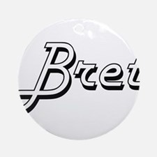 Bret Classic Style Name Ornament (Round)