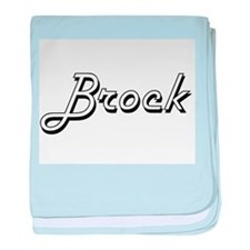 Brock Classic Style Name baby blanket