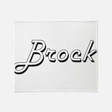 Brock Classic Style Name Throw Blanket