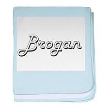 Brogan Classic Style Name baby blanket