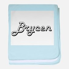 Brycen Classic Style Name baby blanket