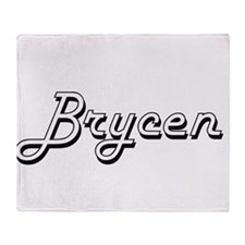 Brycen Classic Style Name Throw Blanket