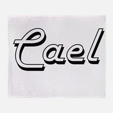 Cael Classic Style Name Throw Blanket