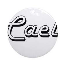 Cael Classic Style Name Ornament (Round)