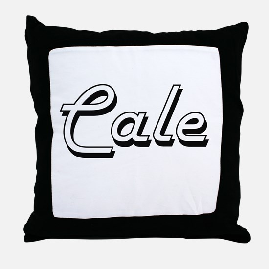Cale Classic Style Name Throw Pillow