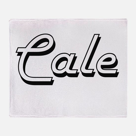 Cale Classic Style Name Throw Blanket