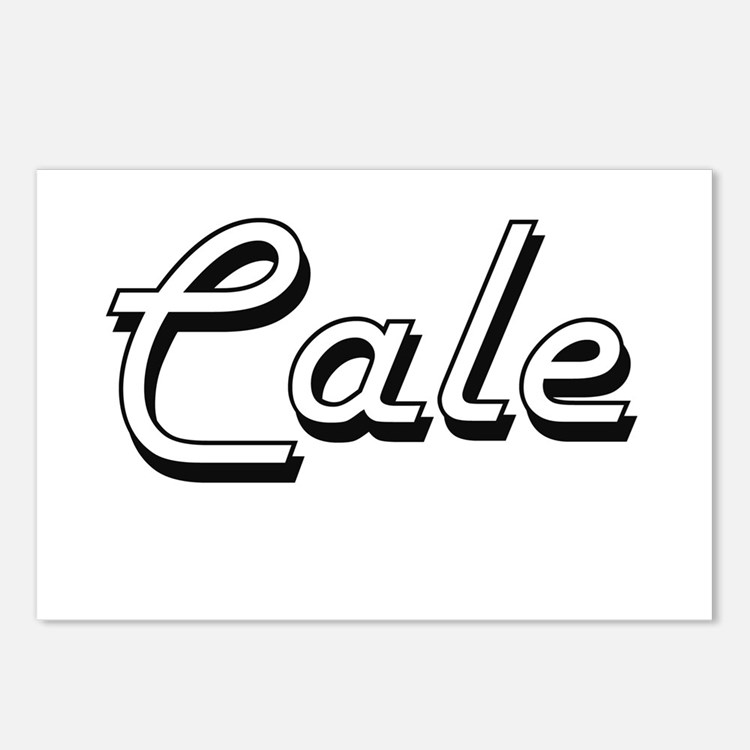 Cale Classic Style Name Postcards (Package of 8)