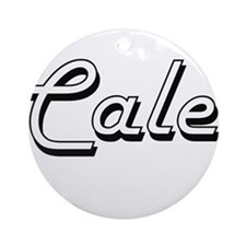 Cale Classic Style Name Ornament (Round)