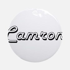 Camron Classic Style Name Ornament (Round)