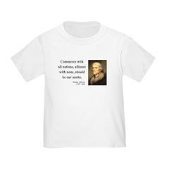 Thomas Jefferson 10 Toddler T-Shirt