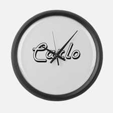 Carlo Classic Style Name Large Wall Clock