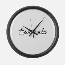 Carmelo Classic Style Name Large Wall Clock