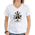 Schaffner Family Crest  Women's V-Neck T-Shirt