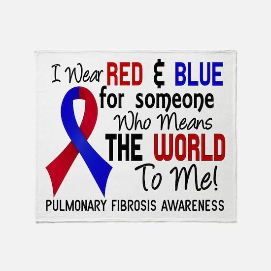 Pulmonary Fibrosis MeansWorldToMe2 Throw Blanket