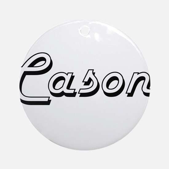 Cason Classic Style Name Ornament (Round)