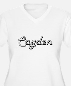 Cayden Classic Style Name Plus Size T-Shirt