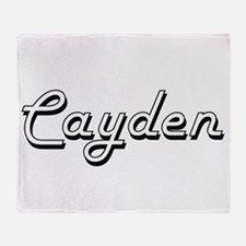 Cayden Classic Style Name Throw Blanket