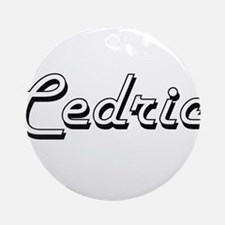 Cedric Classic Style Name Ornament (Round)