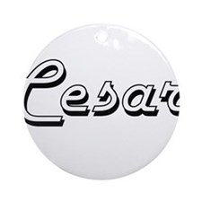 Cesar Classic Style Name Ornament (Round)