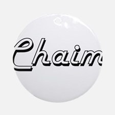Chaim Classic Style Name Ornament (Round)