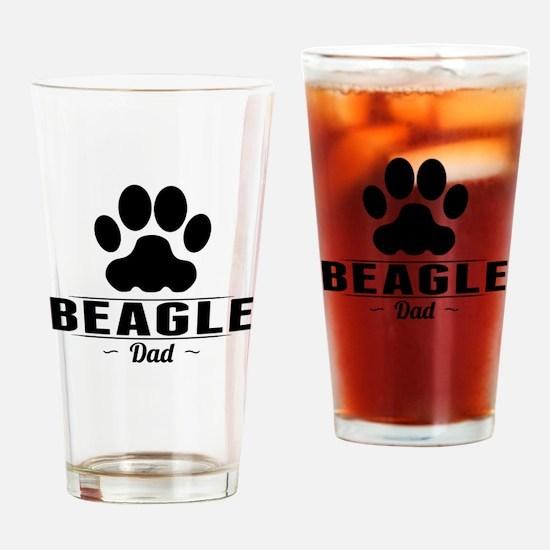 Beagle Dad Drinking Glass