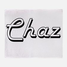 Chaz Classic Style Name Throw Blanket