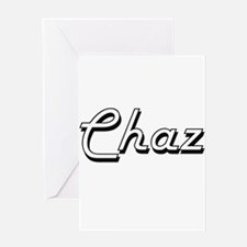 Chaz Classic Style Name Greeting Cards