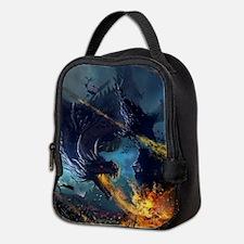 Spitting Fire Dragon Attack Neoprene Lunch Bag