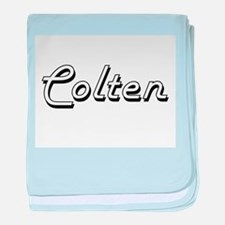 Colten Classic Style Name baby blanket