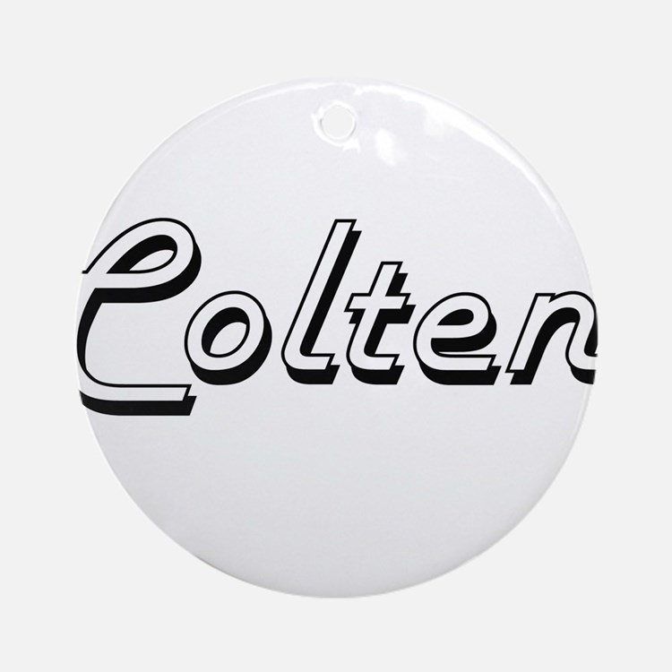 Colten Classic Style Name Ornament (Round)