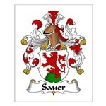 Sauer Family Crest Small Poster