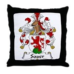 Sauer Family Crest Throw Pillow