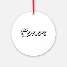 Conor Classic Style Name Ornament (Round)