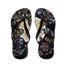 Zombies Full Moon Flip Flops