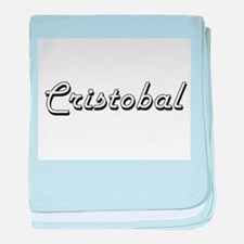 Cristobal Classic Style Name baby blanket