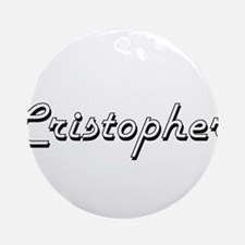 Cristopher Classic Style Name Ornament (Round)