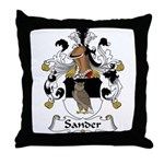 Sander Family Crest  Throw Pillow
